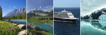 Beautiful Rocky Mountain and Alaska Cruise scenery