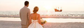 Romantic wedding on Clearwater Beach