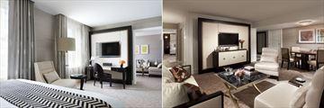 Rosewood Hotel Georgia, Junior Suite Bedroom, Living and Dining Room