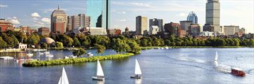 Sailing along Charles River, Boston