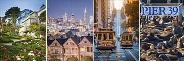 Lombard Street, Cable Car and Pier 39, San Francisco