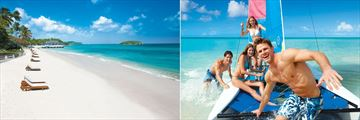 Sandals Halcyon Beach St. Lucia, Beach, Pier and Watersports