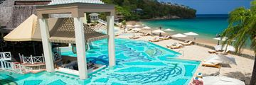 Sandals Regency La Toc Golf Resort & Spa, Main Pool and Beach View
