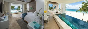 Sandals Royal Barbados, Beachfront One Bedroom Sky Pool Butler Suite with Balcony Tranquility Soaking Tub