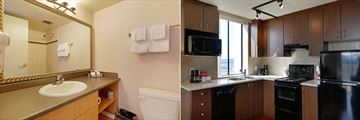 Sandman Suites Vancouver - Davie Street, Suite Bathroom and Kitchen