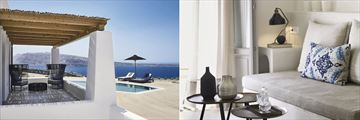 Ilios Luxury Sunset Villa and Cave Junior Suite at Santo Maris Oia Luxury Suites & Spa