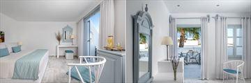 Double Room and Superior Room at Santorini Kastelli Resort