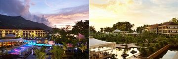 Savoy Seychelles Resort & Spa, Resort at Twilight and Resort Water Features