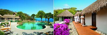 Main Pool and Spa Cabins Exterior at Secrets Papagayo