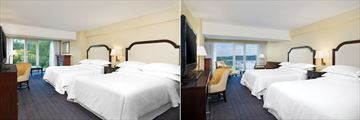Sheraton on the Falls Hotel, Garden View Room and Fallsview Room - American Falls