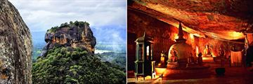 Sigiriya Rock & The Dambulla Caves