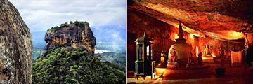 Sigiriya Rock & The Dambulla Caves