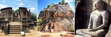 Sigiriya Rock Fortress & Ancient Polonnaruwa structures