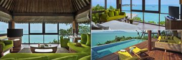 Six Senses Samui, The Retreat Living Room, Bedroom and Pool Deck
