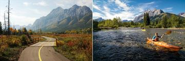Solara Resort & Spa, Mount Kidd Walking Path and Kayaking on the Kananaskis River