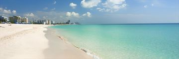 Powdery sands at Miami's South Beach