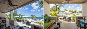 Spice Island, Saffron Suite Terrace and Seagrape Beach Suite Patio