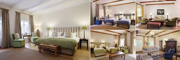 Spier, Stellenbosch, (clockwise from left): Signature Room, Signature Room Twin, Villa Lounge, Suite Lounge and Signature Twin Room