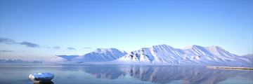 Spitsbergen Mountains in the Arctic