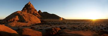 Spitzkopp in Namibia at sunset