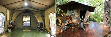 Sri Lanka Leopard Safari, Tent Accommodation with Lounge and Tent Deck