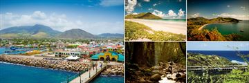 St Kitts; Basseterre Town, Sandy Bank Bay, Southeast Peninsula, Scenic Railway, Rain Forest