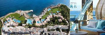 Aerial view of St Nicolas Bay Resort Hotel & Villas and Kafenion Restaurant