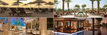 Loungers and Restaurants at St. Regis Saadiyat Island