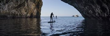 Paddle boarding at Poor Knights, Northland