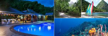 Stonefield Estate Villa Resort, Mango Tree Restaurant, Resort Gardens, Local Excursions to Beaches and Snorkeling