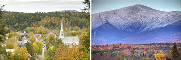 Stowe in Vermont & The White Mountains in New Hampshire