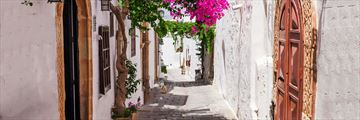 Streets of Lindos, Rhodes, Greece