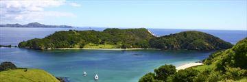 Beautiful scenery in the Bay of Islands, New Zealand