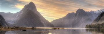 Stunning Milford Sound Scenery at Sunset