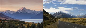 Stunning views of Mount Cook, South Island