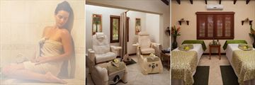 Steam Room, Pedicure Treatment Room and Spa Couple's Treatment Room at Sugar Cane Club Hotel & Spa