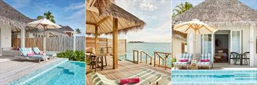 Beach Suite with Pool, Ocean Suite with Pool and Family Suite with Pool at Sun Aqua Iru Veli