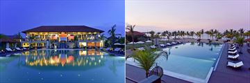Sun Aqua Pasikudah, Latitude Restaurant Exterior and Pool in Evening