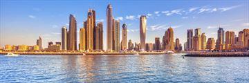 A sunny view of Dubai marina