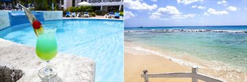 Pool Cocktails and the Beach at The Club Barbados Resort & Spa