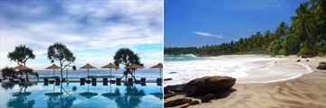 Swimming Pool at The Fortress & Pristine Sri Lankan Beachscape