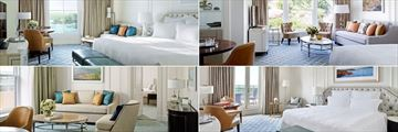 Clockwise from left: Deluxe Room, Executive Room, Terrace Room and Reisdence at The Langham Sydney