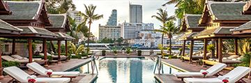 Pool with City Views at the The Peninsula Bangkok