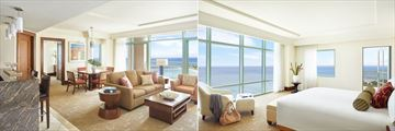 The Reef Atlantis, Topaz Suite Living Room and Topaz Suite Bedroom