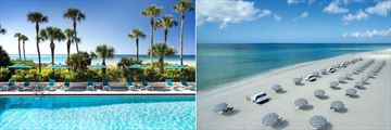 The Resort at Longboat Key Club, Pool and Beach & Sunloungers