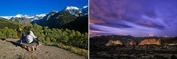 The Rocky Mountains & Garden of the Gods in Colorado Springs