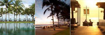 The Samaya Seminyak, Main Pool, Sunset Beachfront Dinner at Breeze Restaurant and Sunset Cocktails