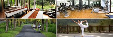 Spa Treatment Room, Gym, Yoga and Exploring the Surroundings by Bike at The Samaya Ubud
