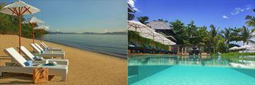 Gaya Island Resort pool and beach