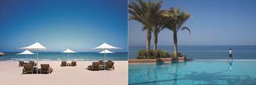 Shangri La Al Husn's pool and beach